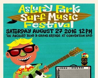 Asbury Park Surf Music Festival 2016 Poster ft. Messer Chups