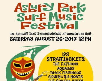 Asbury Park Surf Music Festival 2017 Poster ft. Los Straitjackets