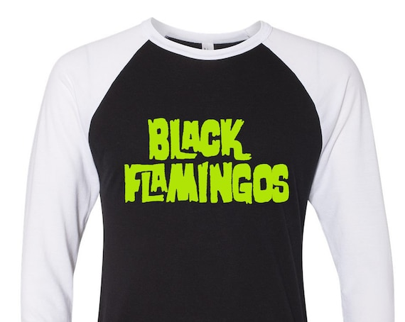 "Black Flamingos ""Are You Afraid of the Dark?"" Logo Raglan"