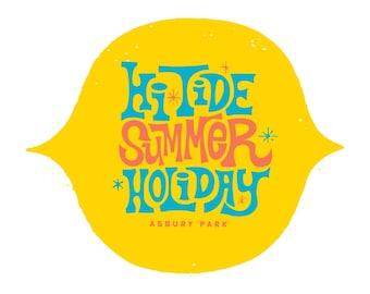 Hi-Tide Summer Holiday: Asbury Park Die-Cut Sticker