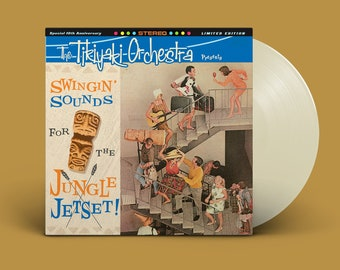 "The Tikiyaki Orchestra ""Swingin' Sounds for the Jungle Jetset!"" 10-Year Anniversary LP - Bone (Second Pressing)"