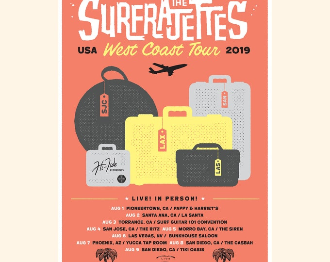 The Surfrajettes West Coast USA Tour Poster