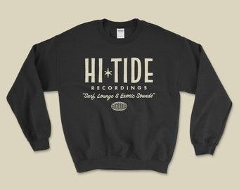 "Hi-Tide ""Surf, Lounge & Exotic Sounds"" Crewneck Sweatshirt (Black Magic)"