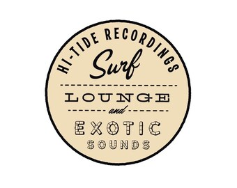 "Hi-Tide Recordings ""Surf, Lounge & Exotic Sounds II"" Enamel Pin"