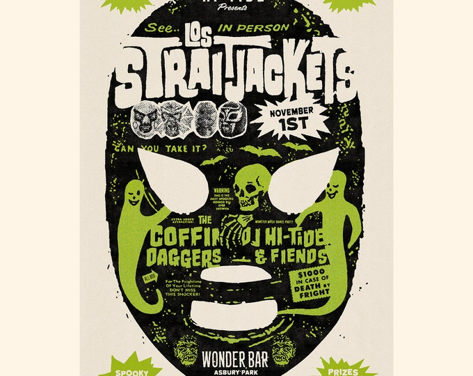 Los Straitjackets Wonder Bar Halloween Poster