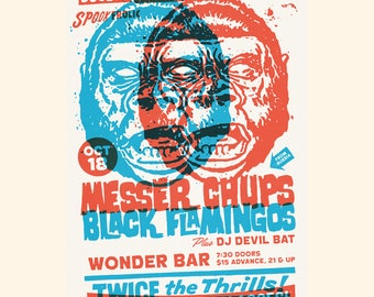 Messer Chups & Black Flamingos Wonder Bar Poster