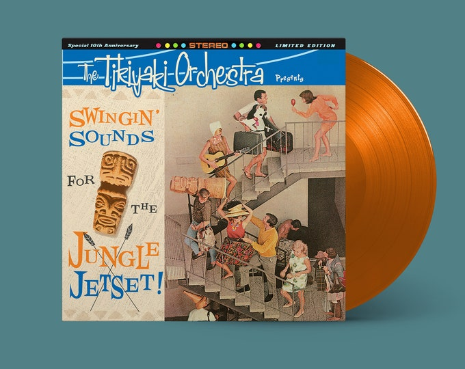 "The Tikiyaki Orchestra ""Swingin' Sounds for the Jungle Jetset!"" 10-Year Anniversary LP (Mai Tai Orange)"