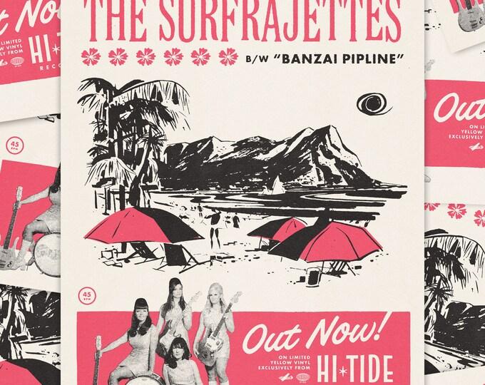"The Surfrajettes ""Haleiwa Hustle"" Commemorative Print"