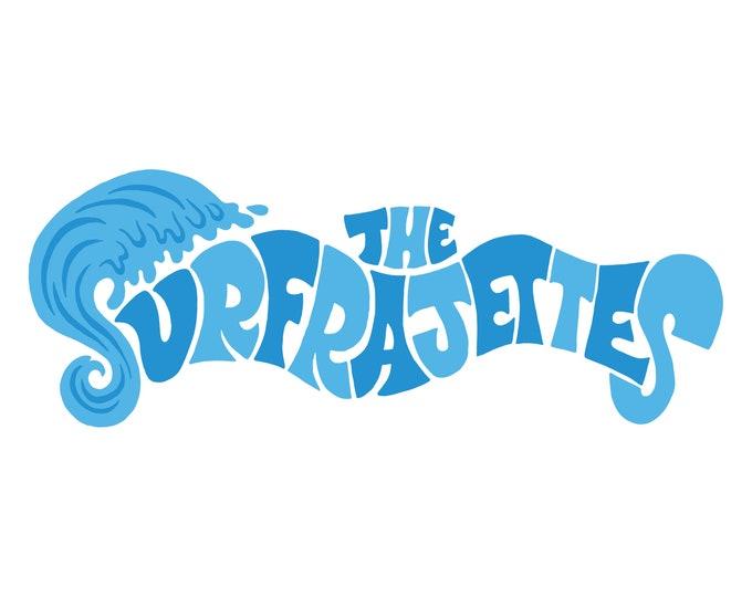 """The Surfrajettes """"Wave"""" Logo Die-Cut Stricker"""