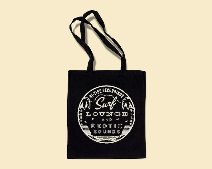 "Hi-Tide Recordings ""Surf, Lounge & Exotic Sounds"" Record Tote"