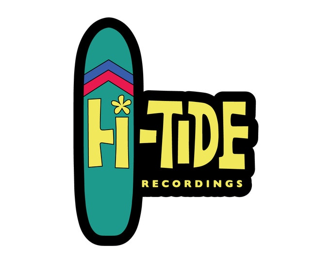 "Hi-Tide Recordings ""Surfboard"" Enamel Pin"