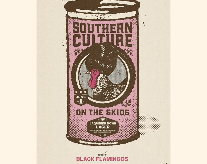 Southern Culture On The Skids / Black Flamingos White Eagle Hall Poster