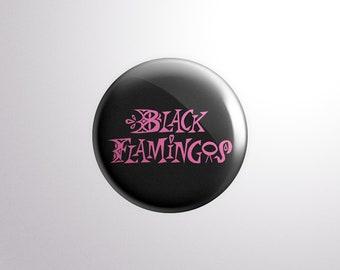 """Black Flamingos """"Neon Boneyard"""" Logo Pin"""