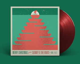 """Slowey and The Boats """"Merry Christmas from Slowey and The Boats, Vol. 1 & 2"""" LP (Ruby Red)"""