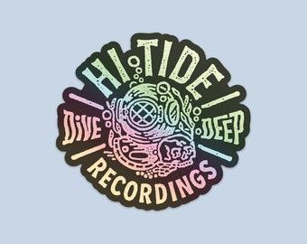 "Hi-Tide Recordings ""Dive Deep"" Holographic Vinyl Sticker"