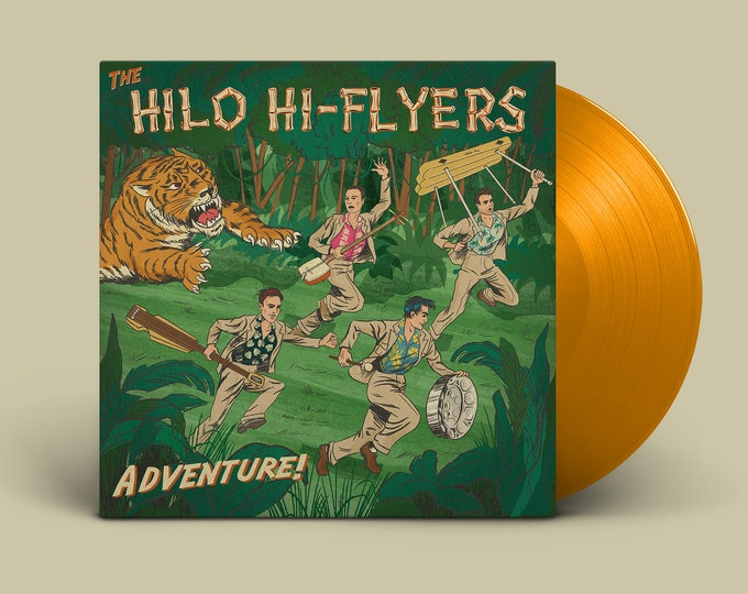 "The Hilo Hi-Flyers ""Adventure!"" LP (Tiger Orange)"
