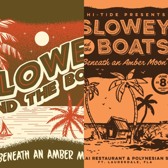 "Slowey and The Boats ""Beneath an Amber Moon"" LP + Print Bundle"