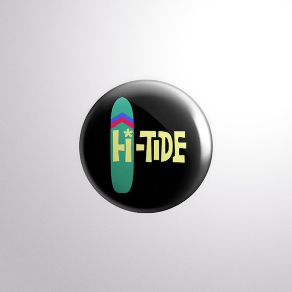 Hi-Tide Recordings Surfboard Pin