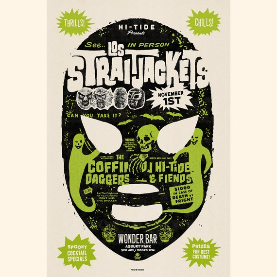 Los Straitjackets / The Coffin Daggers Wonder Bar Poster