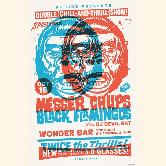 Messer Chups & Black Flamingos Wonder Bar Poster