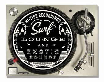 "Hi-Tide ""Surf, Lounge & Exotic Sounds II"" Turntable Slipmat (Black Magic)"