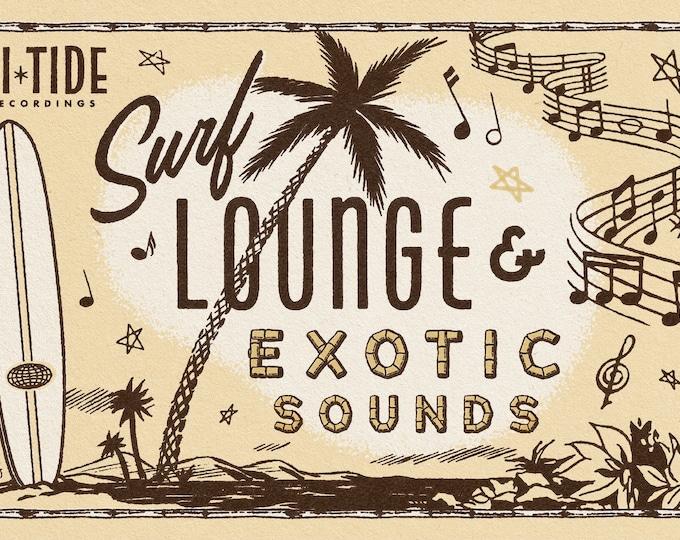 "Hi-Tide Recordings ""Surf, Lounge & Exotic Sounds"" Print 11x17"""