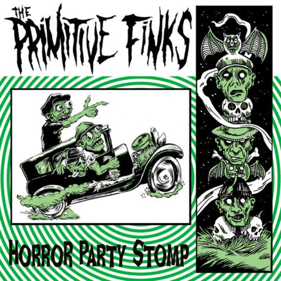 "The Primitive Finks ""Horror Party Stomp"" EP 45"