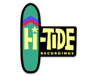 """Hi-Tide Recordings """"Surfboard"""" Vinyl Sticker"""