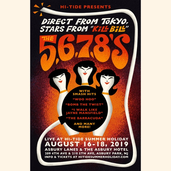 The 5.6.7.8's Asbury Lanes Poster