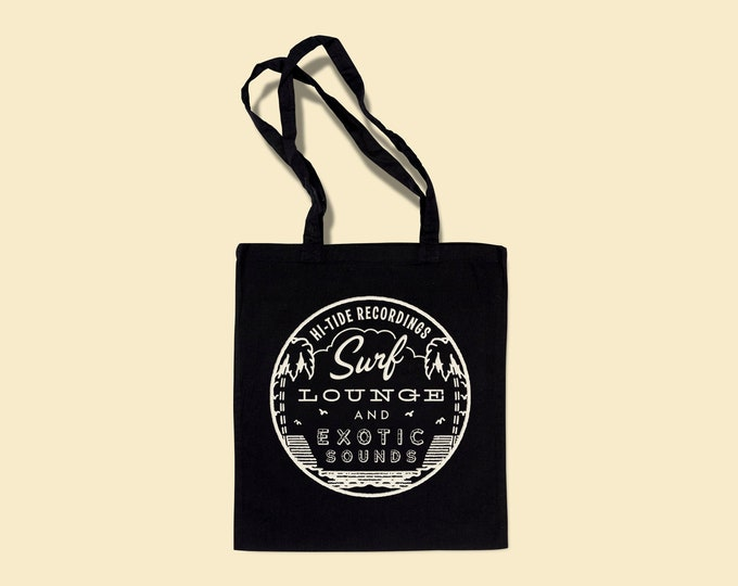 """Hi-Tide Recordings """"Surf, Lounge & Exotic Sounds"""" Record Tote"""