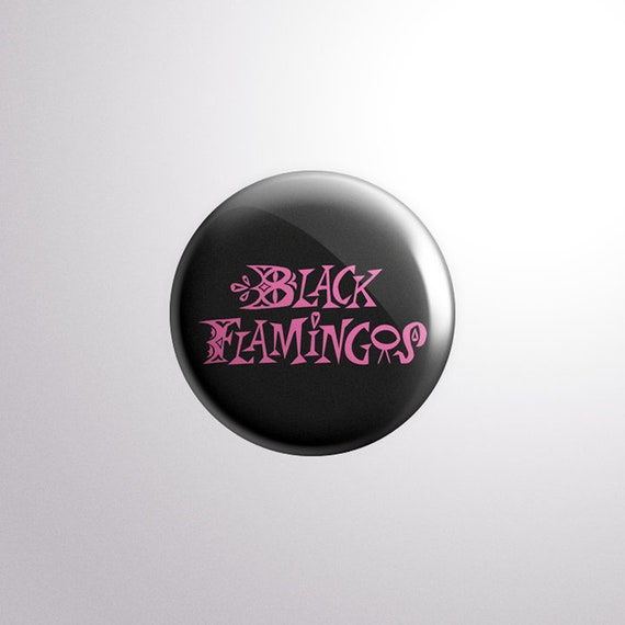 Black Flamingos Logo Pin