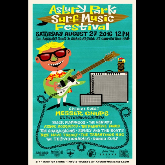 Asbury Park Surf Music Festival 2016 Poster