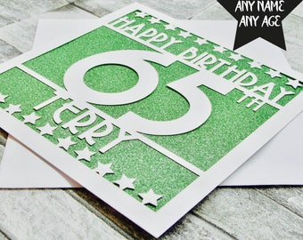 Personalised 65th Birthday Card Cards Age 65 For Mum Her Handmade Papercut