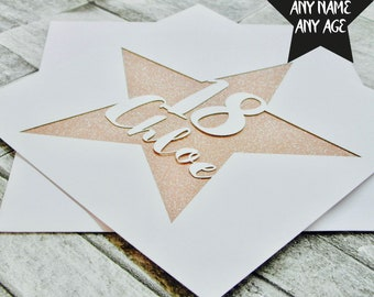 Personalised Birthday Card Happy 1st 10th 16th 18th 21st 30th Lasercut Handmade Papercut