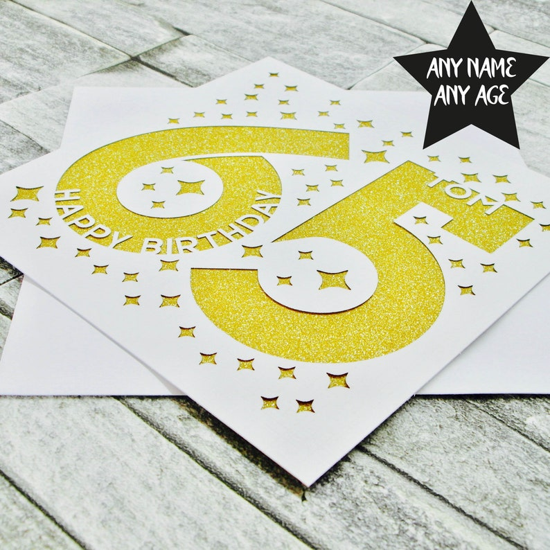 Personalised 65th Birthday Card Cards