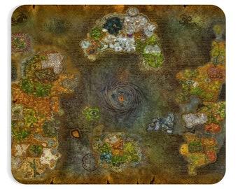 World Of Warcraft Map Azeroth Mousepad