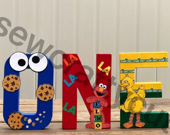 Sesame Street Custom Paper Mache Letters and Numbers