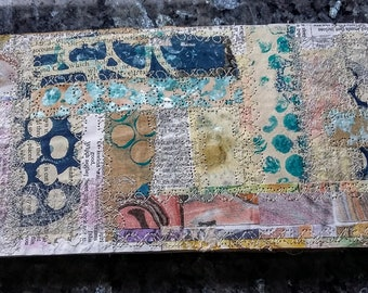 Paper collage handmade book