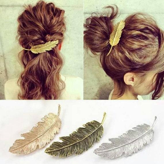 Woman Hair Accessories Metal Triangle Circle Hair Clip Cool  30e15ae3be6