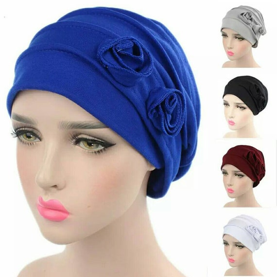 834d3c2f467 Women s Fashion Hats Floral Beanie Hat Stretch Muslim
