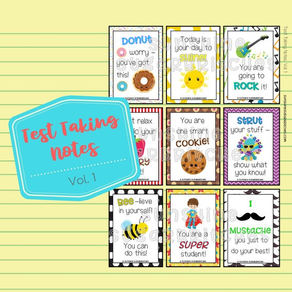 photograph regarding Encouraging Notes for Students During Testing Printable named Try Using Notes Vol. 1 Encouragement Notes 9 Programs 6 Blank PRINTABLE Lunchbox Appreciation Higher education Children Prompt Down load Electronic Document