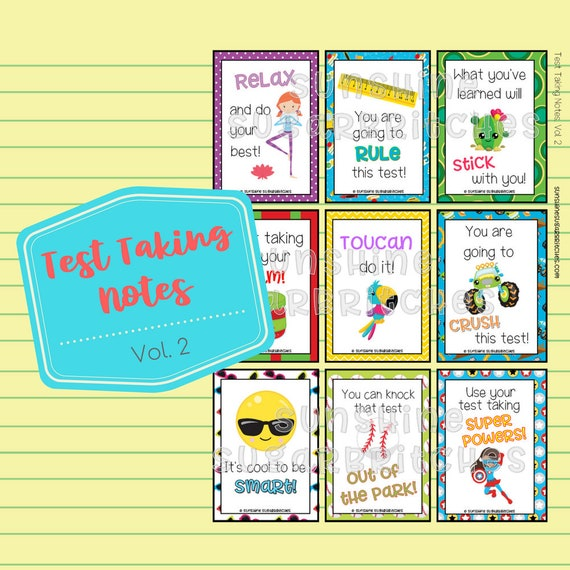 image about Encouraging Notes for Students During Testing Printable called Look at Getting Notes Vol. 2 Encouragement Notes 9 Programs 6 Blank PRINTABLE Lunchbox Appreciation University Youngsters Prompt Obtain Electronic Report