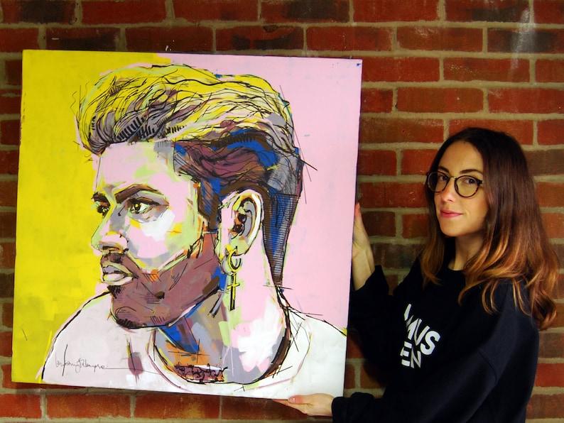 George Michael Wham Portrait  Large Wall Art  Original image 0
