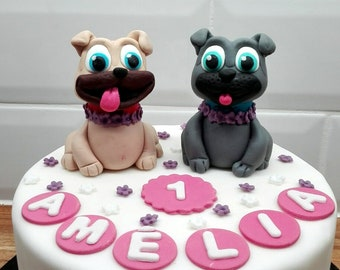 Fondant Puppy Dog Pals Inspired Cake Toppers