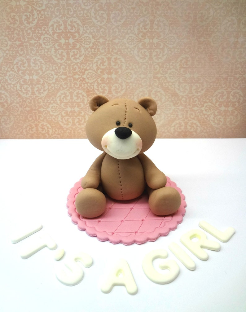 Baby Shower Cake Topper Personalised Decorations Teddy Name Topper Boys Girls