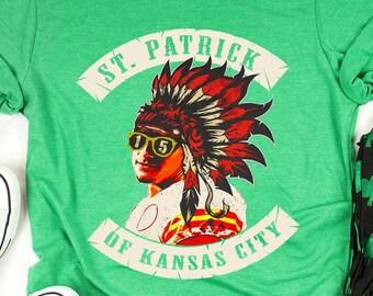 UNISEX Patrick Mahomes St Patrick Of Kansas City Funny T Shirt Unisex Heavy  Cotton Tee Kansas City Football Chiefs Quarterback Inspired    eeea4cbdf