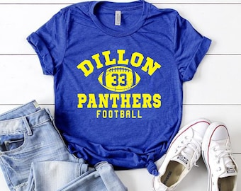 5e28e1b1d Unisex Dillon Panthers 33 T-Shirt Friday Night Lights Tim Riggins American  Usa Tee Vintage Panthers Texas High School Football shirt