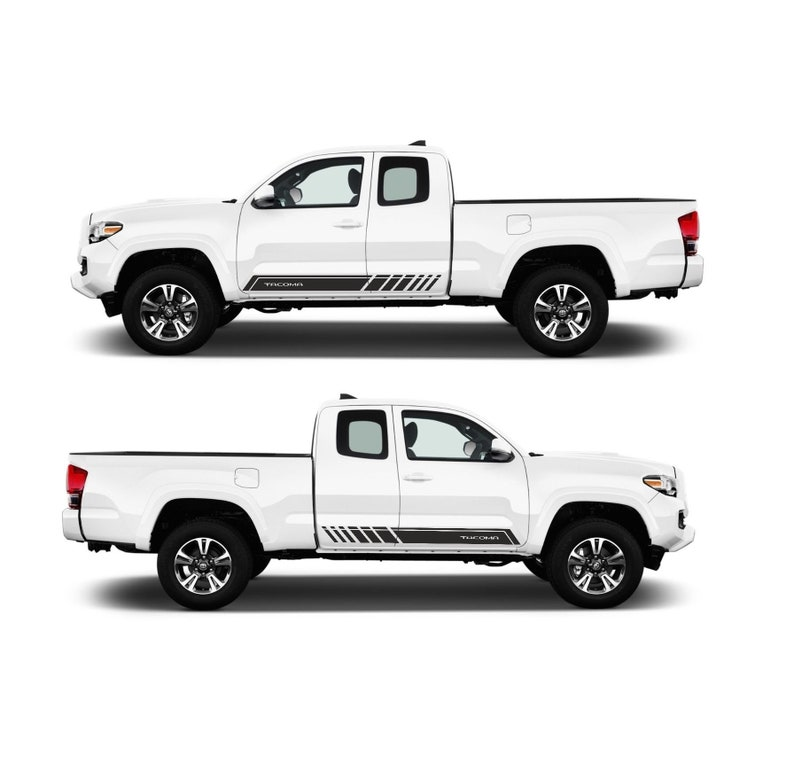 5 Variation 2X Toyota Tacoma TRD PRO side bed Vinyl Decals graphics sticker
