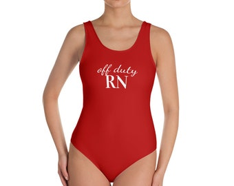 Off Duty RN Swimsuit - Red