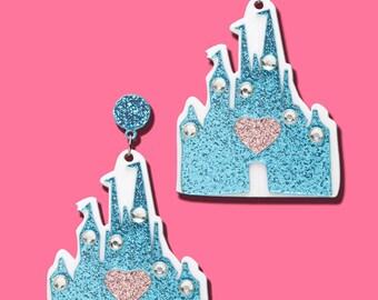 Fairy Tale Castle Acrylic Earrings
